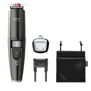 Philips Водоустойчив тример за подстригване на брада Series 9000, Лазерно насочване, Изцяло метални ножчета, С включен прецизен тример, Усъвършенствана литиево-йонна батерия